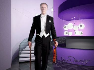 Male pattern for photoshop - Violinist