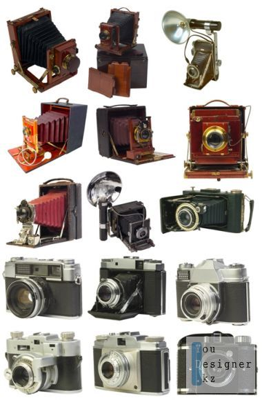 ClipArt in Psd - Old Cameras