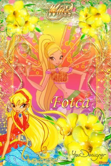 Children's frame for the photo - Winx club (Fairy Stella)