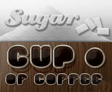 Sugar & Coffee Styles for Photoshop