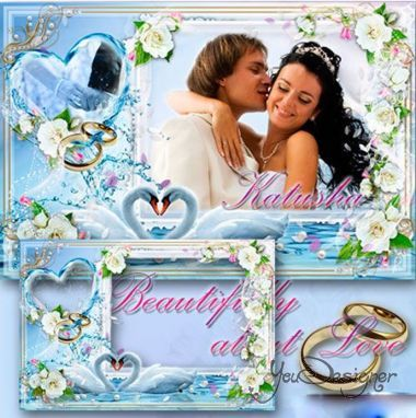 Wedding photo frame - Nice things about Love
