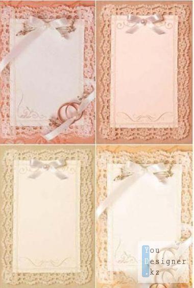 Свадебные кружевные фоны / Wedding lace backgrounds