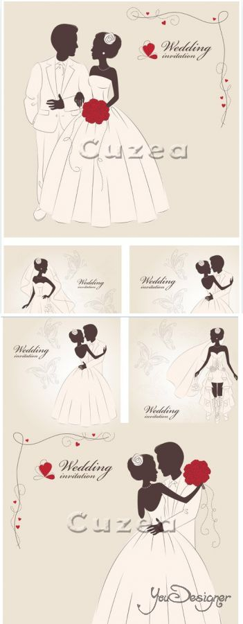 Wedding invitation, 12 - vector stock