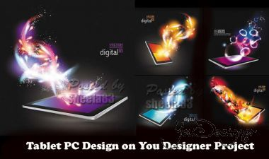 Tablet PC Design Vector