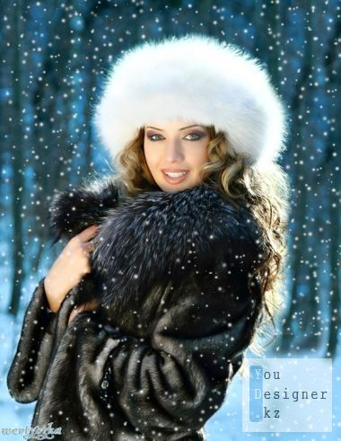 Woman template - Girl in furs