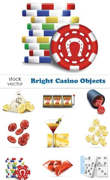 Vector clipart - Bright Casino Objects