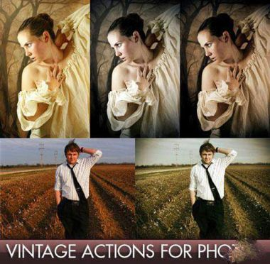 Vintage actions for Photoshop