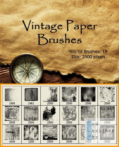 Brushes for photoshop - Vintage paper