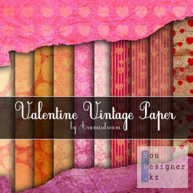 Paper for Valentine vintage style