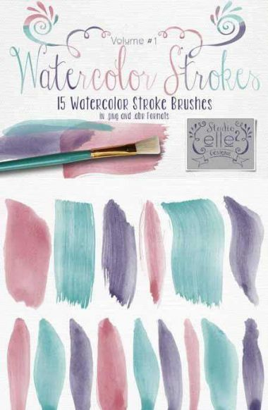 Brushes for photoshop - Watercolor Strokes