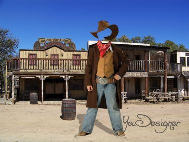 Template for  photomontage - The wild West