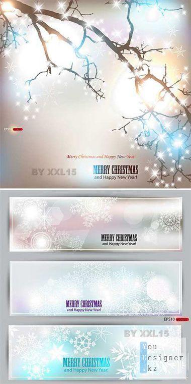 Элегантные зимние обои / Elegant winter backgrounds