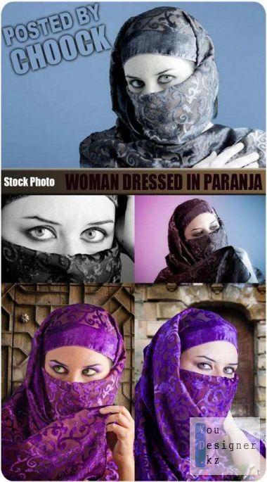 Woman dressed in paranja
