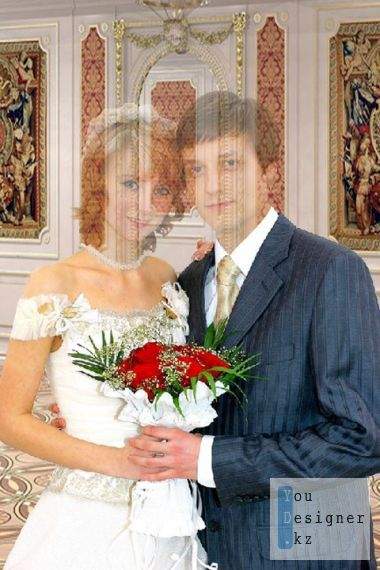 Template for a photoshop – the Groom and the bride