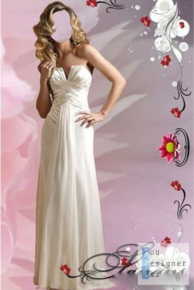Psd шаблон для девушек - красотка на кровати с тюльпаном