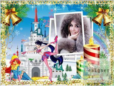 Зимняя рамка с Винкс для фотошопа / Winter frame with Antispyware for photoshop