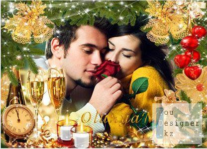 овогодняя рамка для фото - Только ты и я в новогоднюю ночь