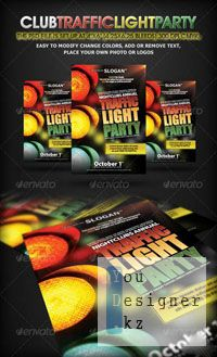 Traffic Light Party Nightclub Flyer - GraphicRiver