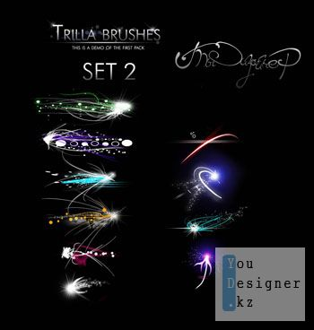 Кисти для фотошоп - Trilla Brush Pack Set 2