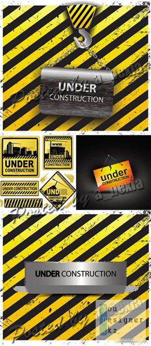 Векторный шаблон - Строительство / Under Construction Vector