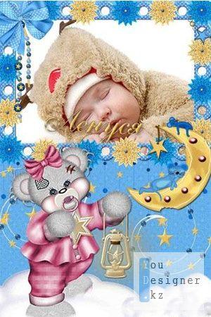 Детская фоторамка - Уснул малыш 2!