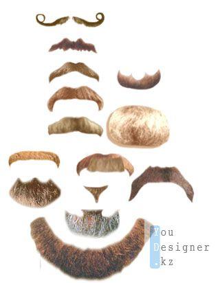 Клипарт-Усы и борода