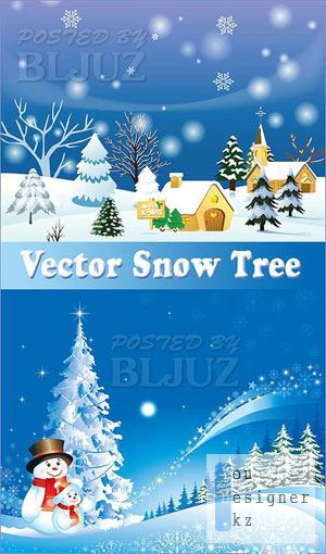 Vector Snow Tree