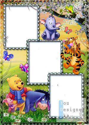 Детская рамка для фото с Вини Пухом №2