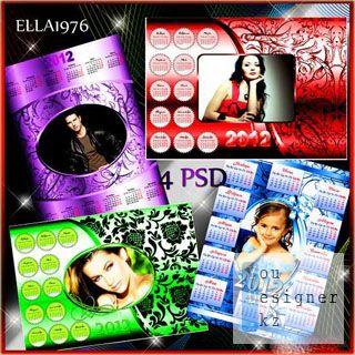 Календари-рамки на 2012 год с винтажными узорами