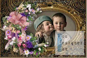 Vintage Frame for Photoshop - Diverse flower / Винтаж Рамка для Photoshop - Разнообразные цветок