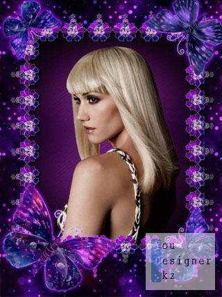 Рамка для фото - Violet rhapsody