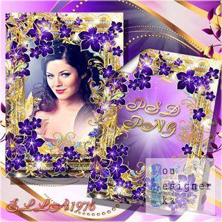 Цветочная рамка для фото - И душа моя переселится в фиолетовые цветы