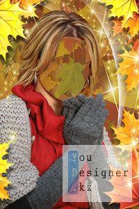 Женский шаблон для фотошопа – Волшебная осень