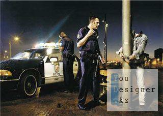 Мужской шаблон для фотомонтажа - Встреча с полицией / Male template for photomontage - a Meeting with the police