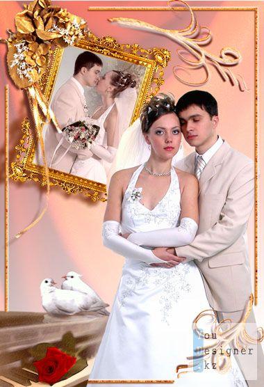 Свадебный коллаж-Возле картины