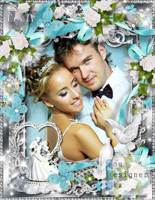 Многослойная свадебная рамка - Любовь / Multi-layered wedding frame - Love