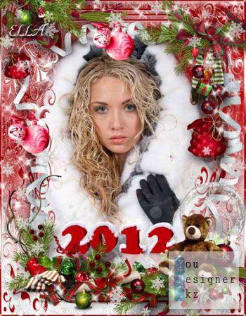 Новогодняя фоторамка - Снежинка белая / New year photo frame - white Snowflake