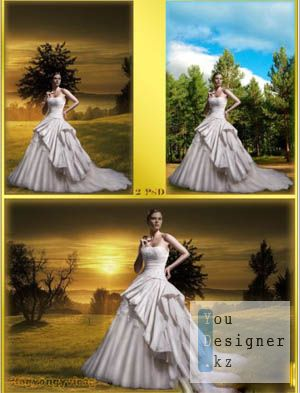 Women's Photoshop templates - Sunset