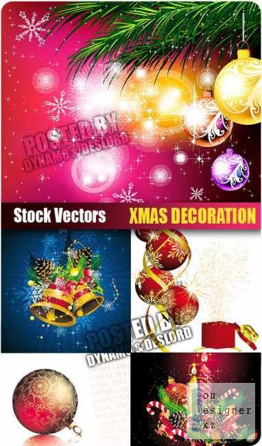 Векторный сток: Новогодние декорации