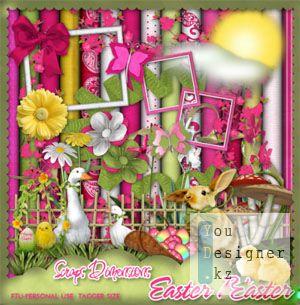 Яркий и очаровательный весенний скрап-набор «Пасхальное счастье» / Spring Scrap kit