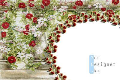 Рамка для фото с цветами
