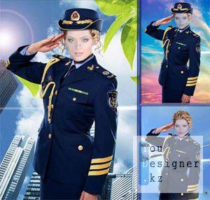 Женский костюм для фотомонтажа – На службе