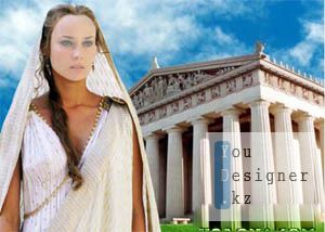 Женский шаблон для фотошопа - Богиня красоты
