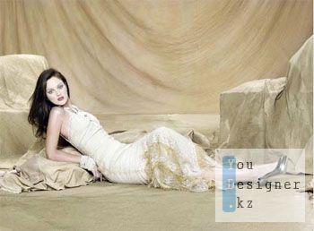 Женский шаблон для фотошопа - Красивая
