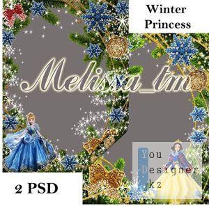 Детские рамки Зимняя Принцесса Winter Princess