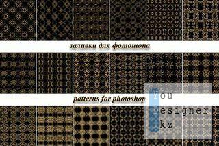 Заливки для фотошопа - Прозрачный золотой ажур / Pattern for photoshop - Transparent gold openwork